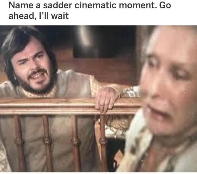Facial expression - Name a sadder cinematic moment. Go ahead, l'll wait