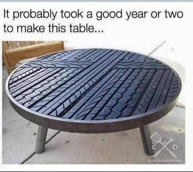 Furniture - It probably took a good year or two to make this table... CCLASSICDADMOVES