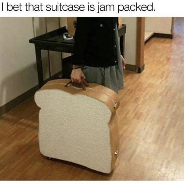 Floor - I bet that suitcase is jam packed.