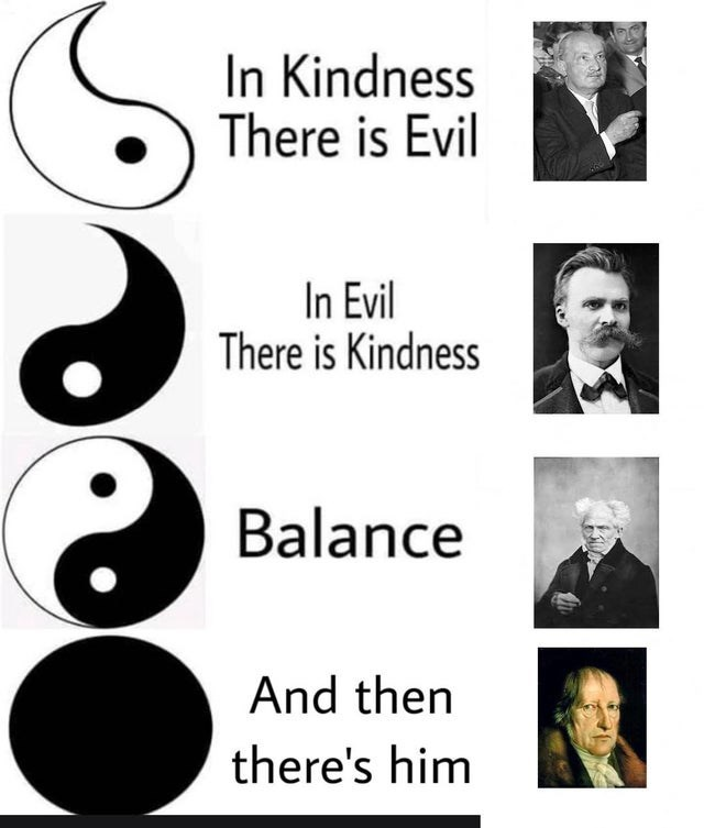 Text - In Kindness There is Evil In Evil There is Kindness Balance And then there's him