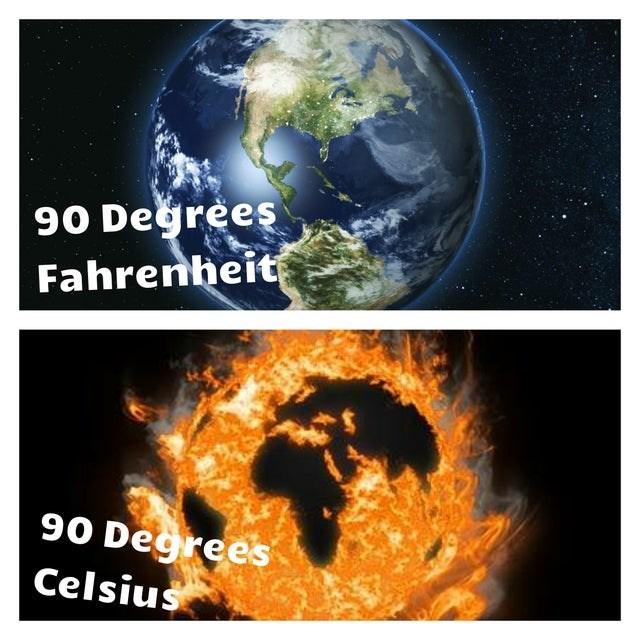 Planet - 90 Değrees Fahrenheit 90 Degrees Celsius