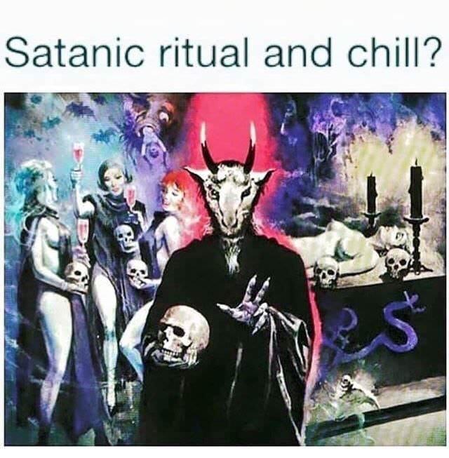 Album cover - Satanic ritual and chill?