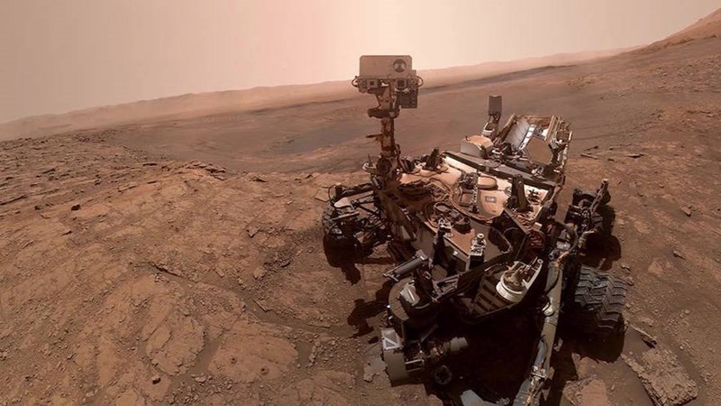 curiosity rover's new selfie that it took on mars