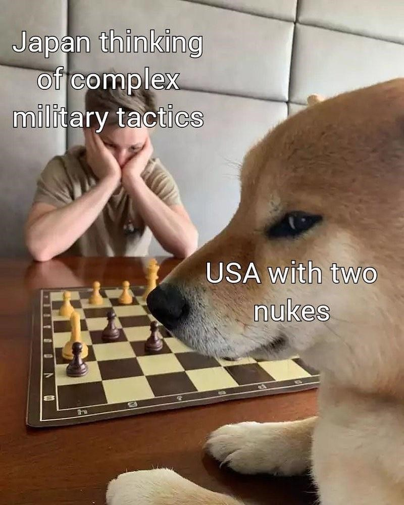Games - Japan thinking of complex military tactics USA with two nukes II IN