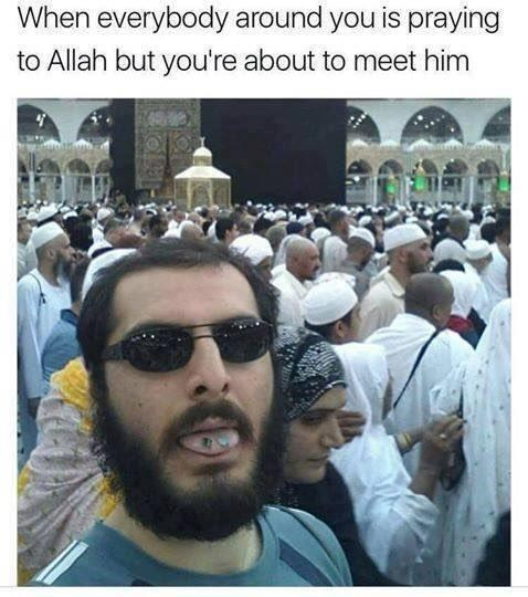 People - When everybody around you is praying to Allah but you're about to meet him
