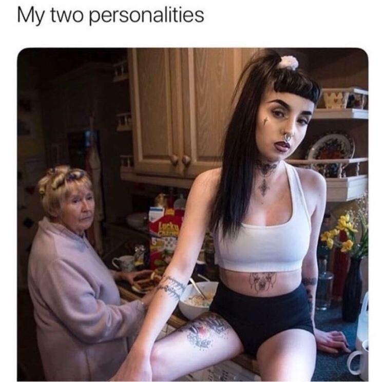 Beauty - My two personalities Locke