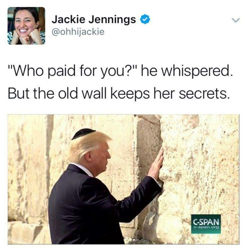 """Text - Jackie Jennings @ohhijackie """"Who paid for you?"""" he whispered. But the old wall keeps her secrets. C-SPAN C-span.org"""