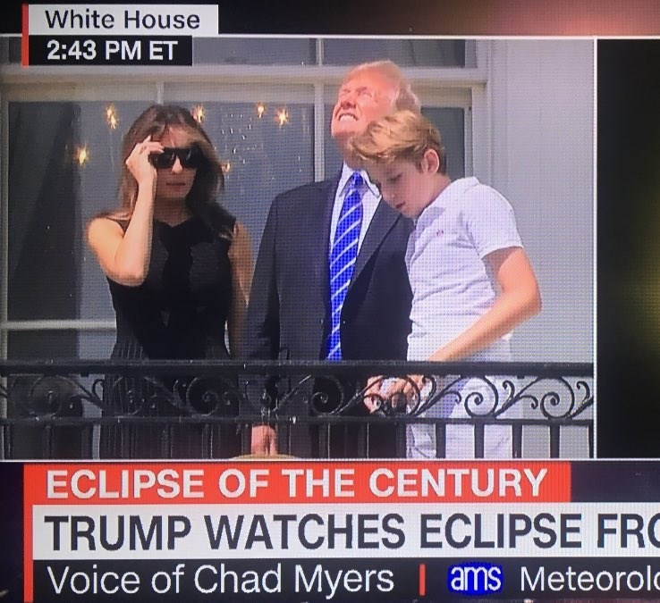 News - White House 2:43 PM ET ECLIPSE OF THE CENTURY TRUMP WATCHES ECLIPSE FRO Voice of Chad Myers | ams Meteorolo