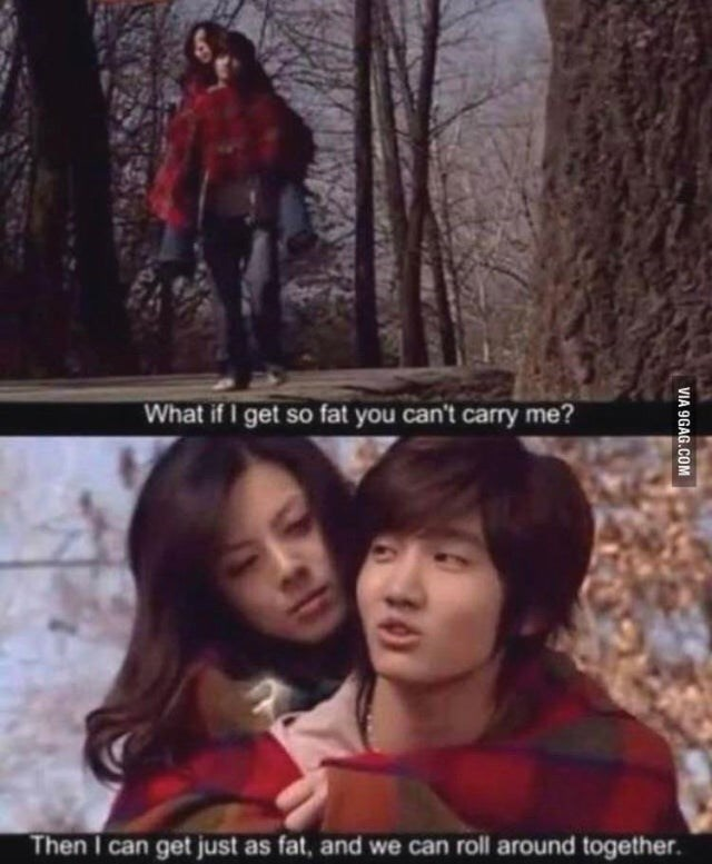 Tree - What if I get so fat you can't carry me? Then I can get just as fat, and we can roll around together. VIA 9GAG.COM 30