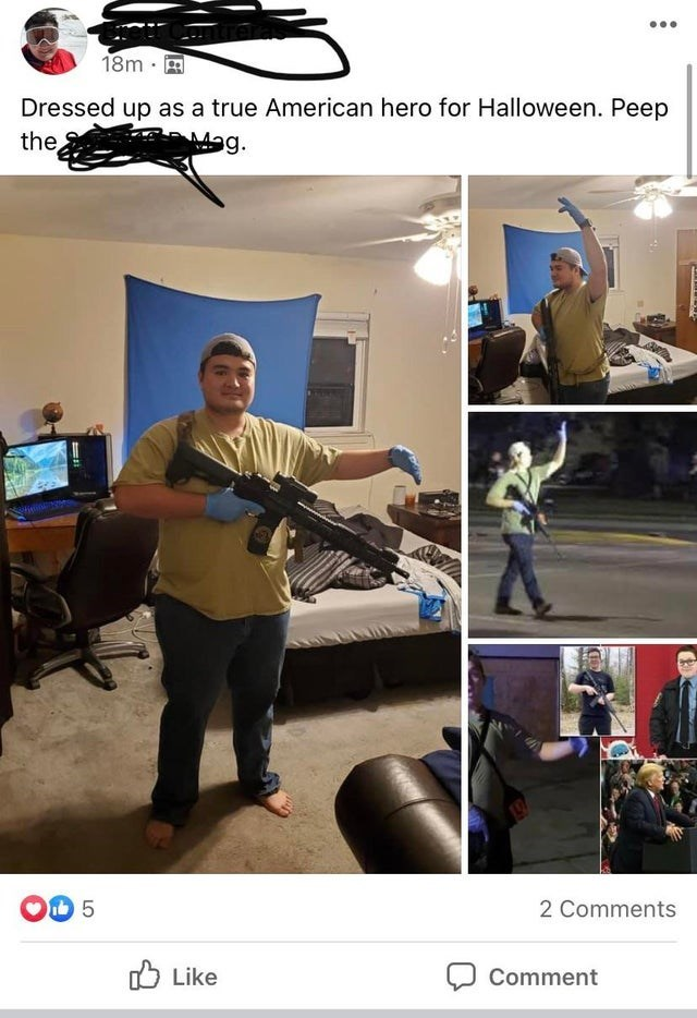 Training - 18m · Dressed up as a true American hero for Halloween. Peep the Mag. 5 2 Comments O Like Comment