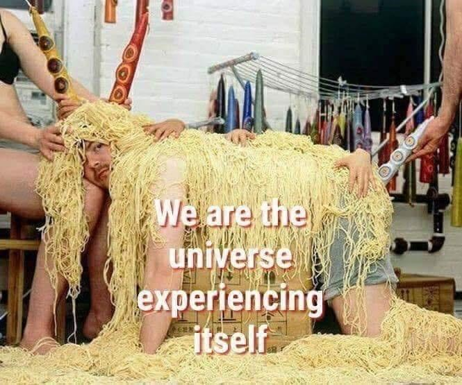Yellow - We are the universe experiencing itself.