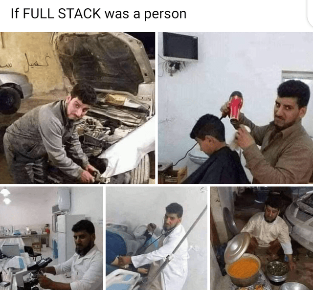 Photo caption - If FULL STACK was a person