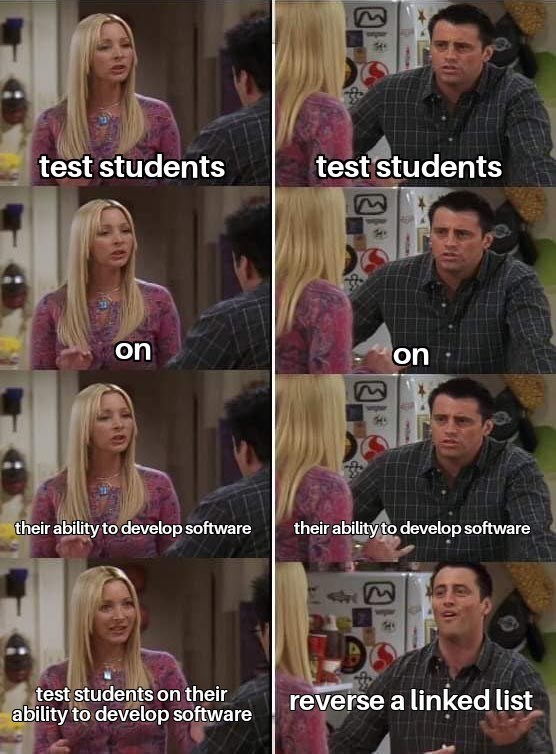 Hair - test students test students 38 on on their ability to develop software their ability to develop software test students on their ability to develop software reverse a linked list