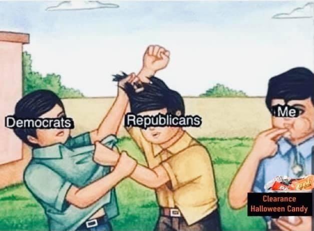 Cartoon - Me Democrats Republicans Clearance Halloween Candy
