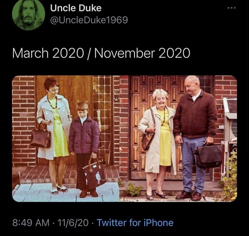Text - Uncle Duke ... @UncleDuke1969 March 2020 / November 2020 8:49 AM · 11/6/20 · Twitter for iPhone