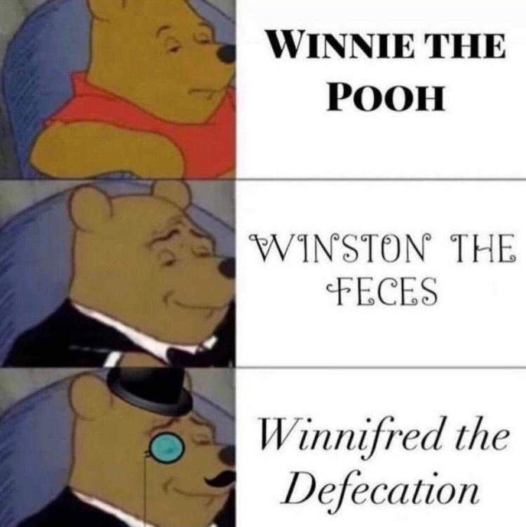 Cartoon - WINNIE THE POOH WINSTON THE FECES Winnifred the Defecation