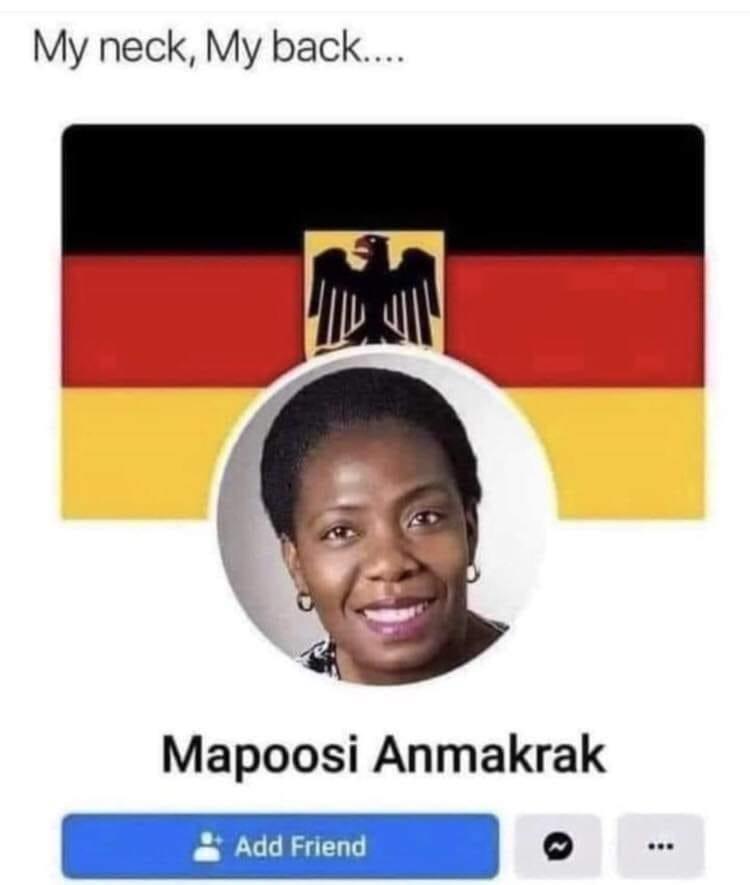 Text - My neck, My back... Mapoosi Anmakrak Add Friend