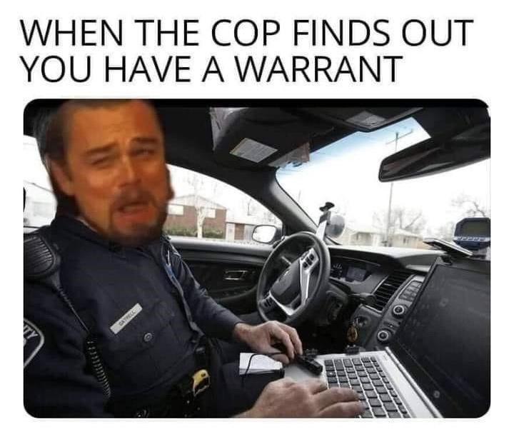 Motor vehicle - WHEN THE COP FINDS OUT YOU HAVE A WARRANT TY GATRECL