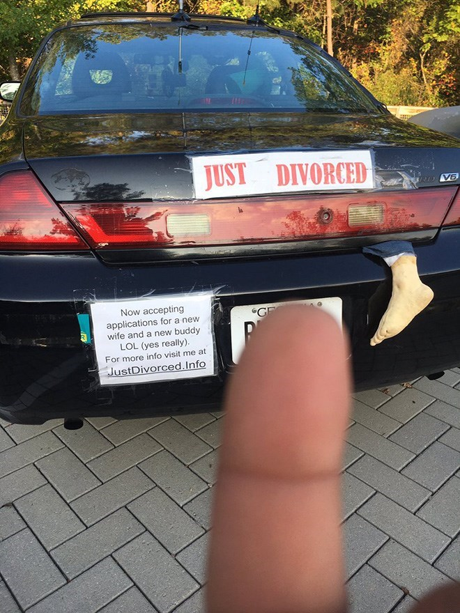 """Vehicle - JUST DIVORCED VE Now accepting applications for a new wife and a new buddy LOL (yes really). For more info visit me at """"GF JustDivorced.Info"""