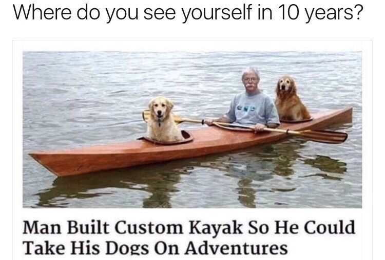 Water transportation - Where do you see yourself in 10 years? Man Built Custom Kayak So He Could Take His Dogs On Adventures
