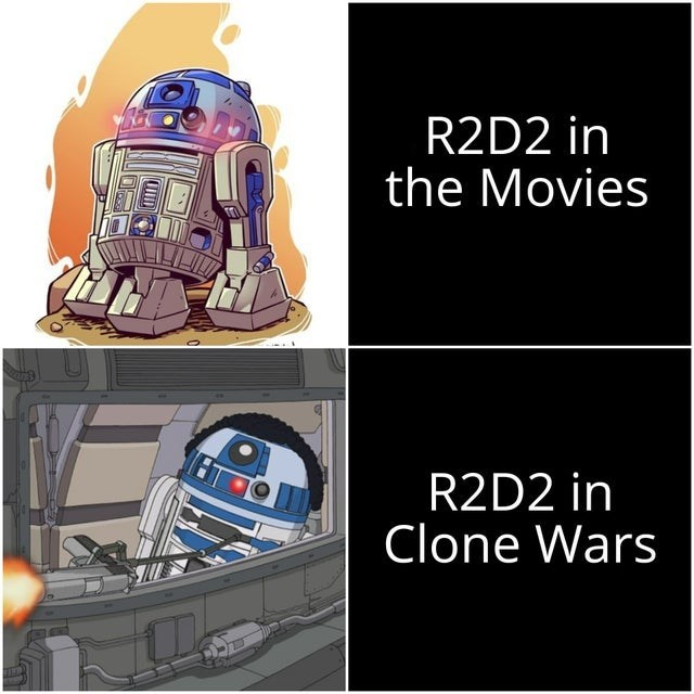 R2-d2 - R2D2 in the Movies R2D2 in Clone Wars