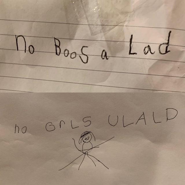 Text - no Boos a Lad GPLS ULALD