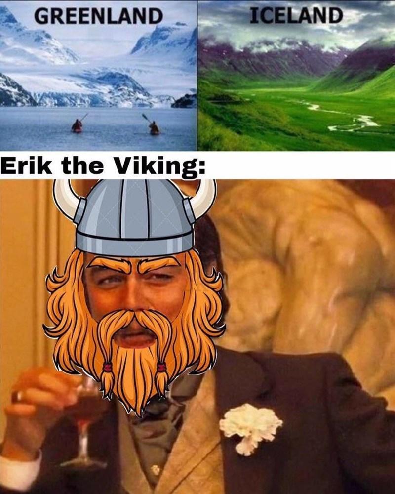 Photo caption - GREENLAND ICELAND Erik the Viking:
