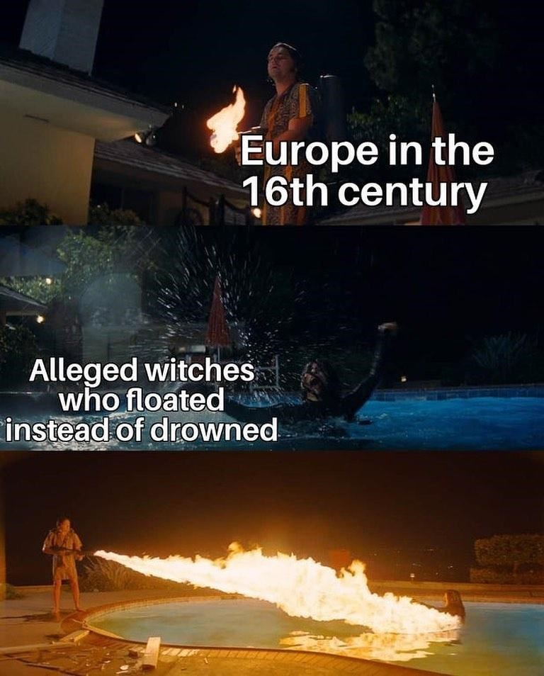 Sky - Europe in the 16th century Alleged witches who floated instead of drowned