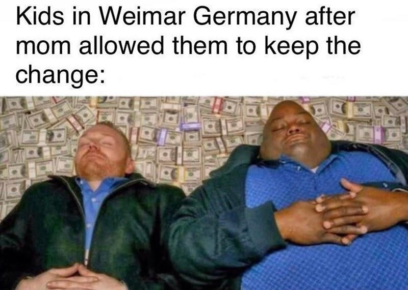 Hand - Kids in Weimar Germany after mom allowed them to keep the change: