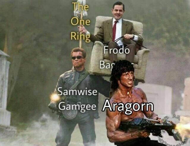 Font - The Öne Ring Frodo Baş Samwise Gamgee Aragorn