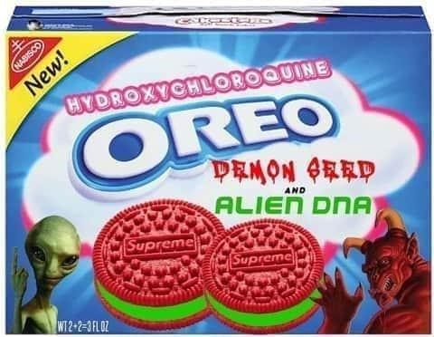 Snack - New! HYDROXYCHLOROQUINE NABISCO OREO PRMON 4取取P ALIEN DNA AND Supreme Supreme WI 2-2-3FLOZ