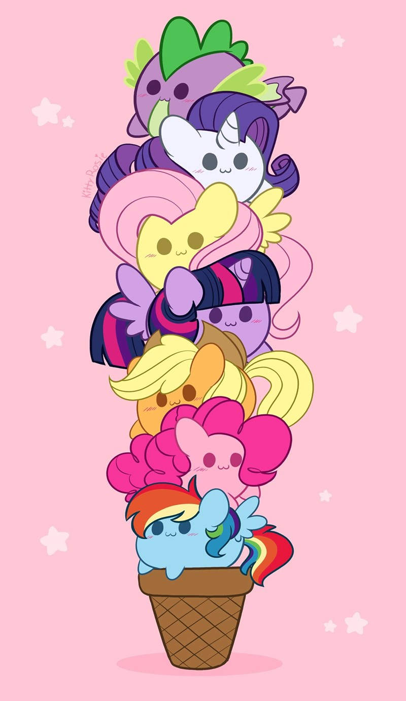 spike applejack twilight sparkle pinkie pie kitty rosie rarity fluttershy rainbow dash - 9570957312