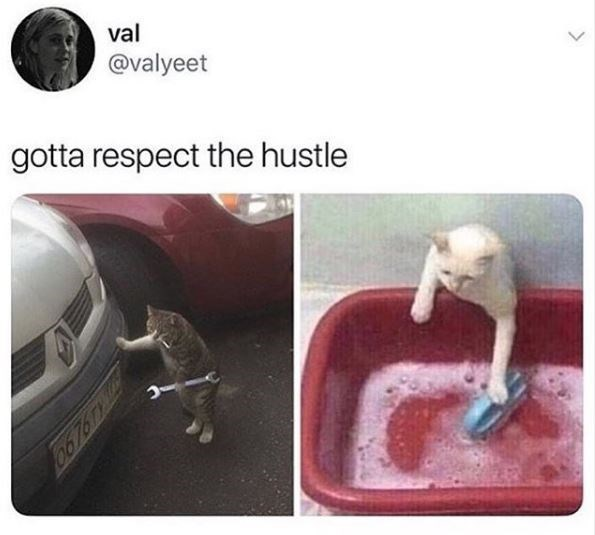 Technology - val @valyeet gotta respect the hustle >