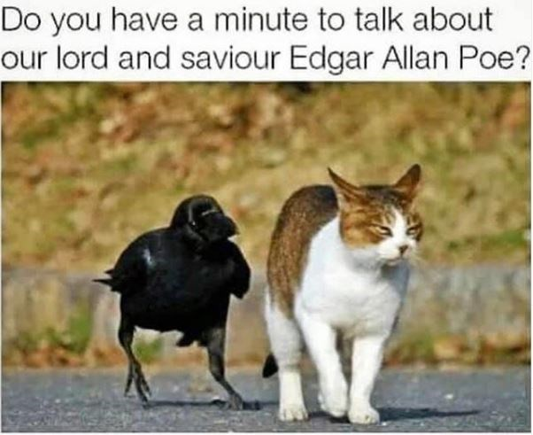 Vertebrate - Do you have a minute to talk about our lord and saviour Edgar Allan Poe?