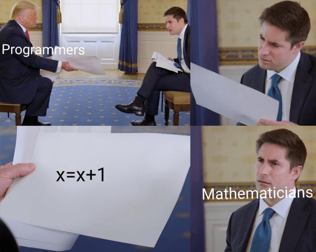 White-collar worker - Programmers X=x+1 Mathematicians