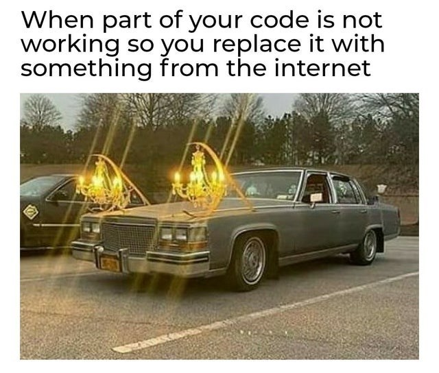 Vehicle - When part of your code is not working so you replace it with something from the internet
