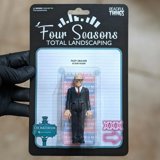 Action figure - READFUL THINGS A WAFNING THS SNOT THE- FOUR SEASONS HOTEL Four easons TOTAL LANDSCAPING RUDY GIULIANI ACTION FIGURE RUMPITRUM 2020 2020 RU RUM 20 to XXX RU RUM CREMATORIUM 201 2020 RU 202 2020 RUM