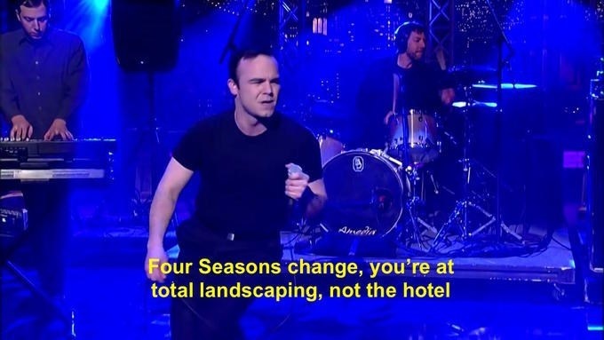 Performance - Ameria Four Seasons change, you're at total landscaping, not the hotel