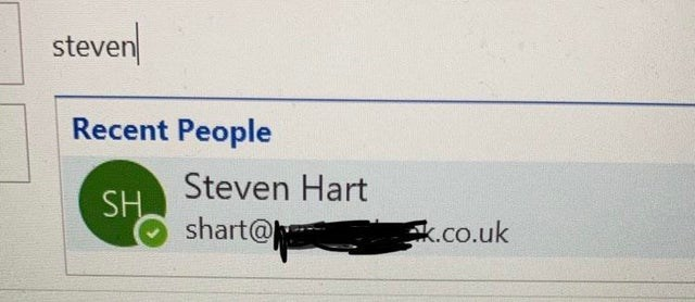 Text - steven Recent People Steven Hart SH shart@ k.co.uk