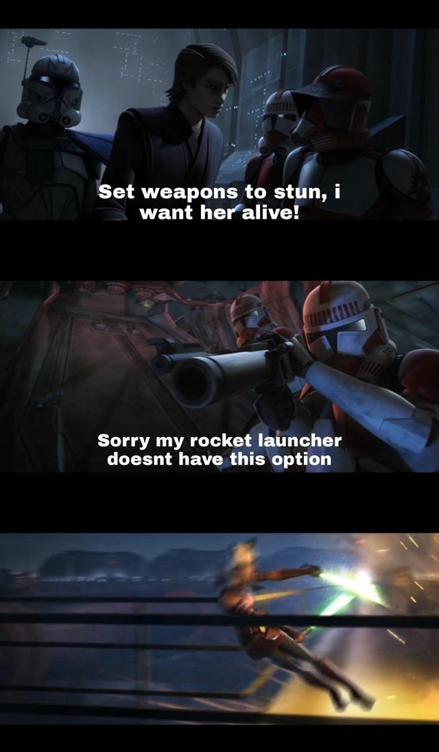 Action-adventure game - Set weapons to stun, i want her alive! Sorry my rocket launcher doesnt have this option