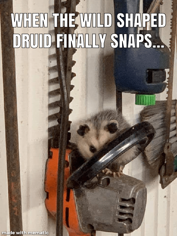 Machine - WHEN THE WILD SHAPED DRUID FINALLY SNAPS.. made with mematic