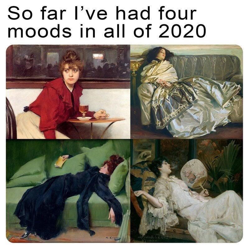 Painting - So far l've had four moods in all of 2020