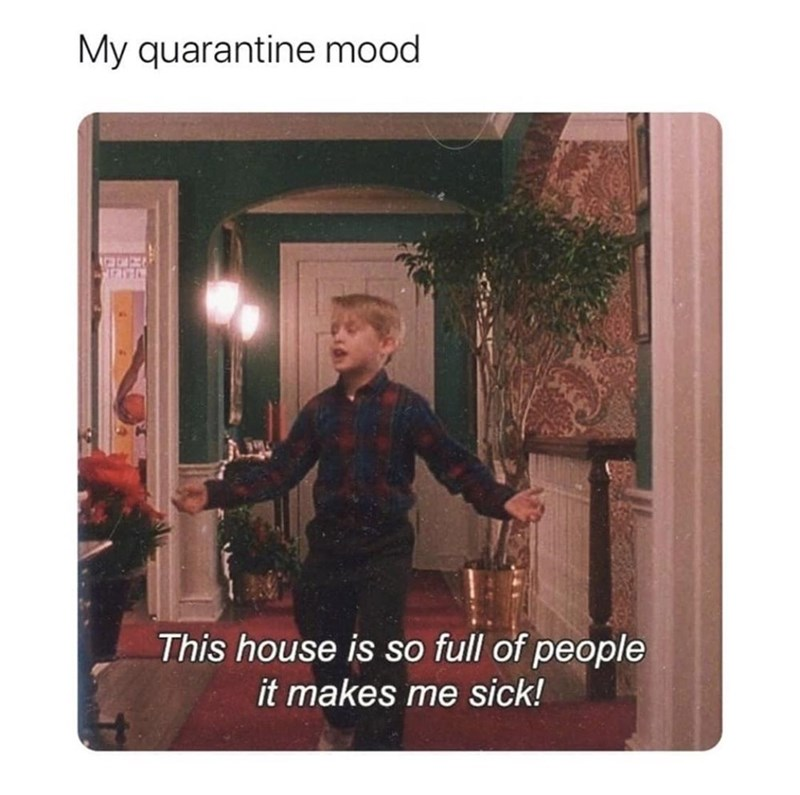 Photo caption - My quarantine mood This house is so full of people it makes me sick!