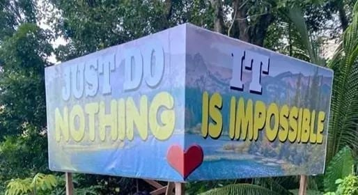 Banner - JUST DO NOTHING IS IMPOSILE