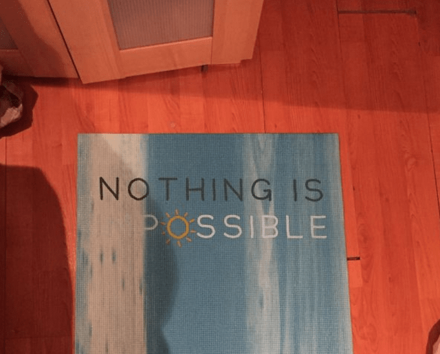 Text - NOTHING IS POSSIBLE