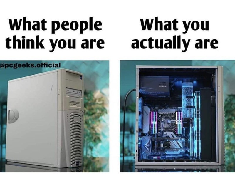 Product - what people think you are what you actually are @pcgeeks.official