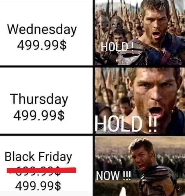People - Wednesday 499.99$ HOLD! Thursday 499.99$ HOLD !! Black Friday 699.990 499.99$ NOW!!