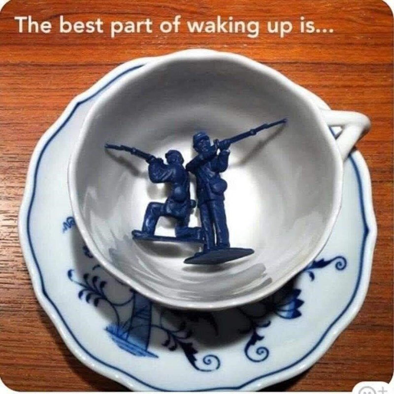 Porcelain - The best part of waking up is...