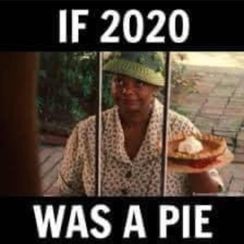 Photo caption - IF 2020 WAS A PIE