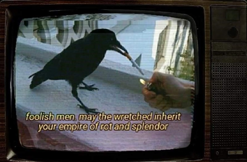 Bird - foolish men may the wretched inherit your empire of rot and splendor